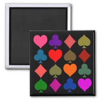 Artsy Card Symbols Bright Magnet