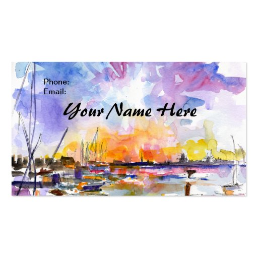 Artsy charleston watercolor business card by ginet zazzle for Artsy business cards