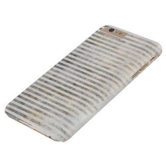Artsy Chic Romantic Abstract Distressed Stripes Barely There iPhone 6 Plus Case