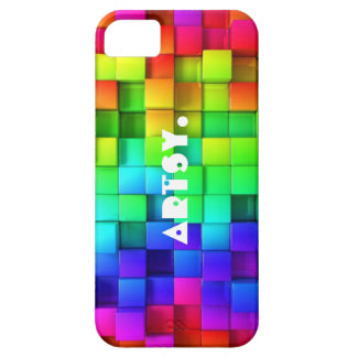 """Artsy"" Colorful 3D Cube iPhone SE/5/5s Case"