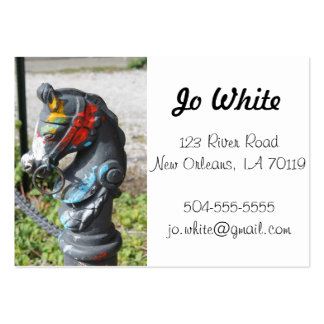 Artsy Colorful Horse Business Cards, New Orleans Large Business Card
