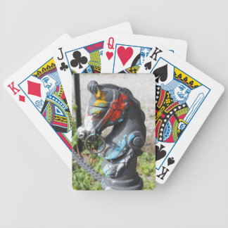 Artsy Colorful Horse Hitching Post, New Orleans Bicycle Playing Cards