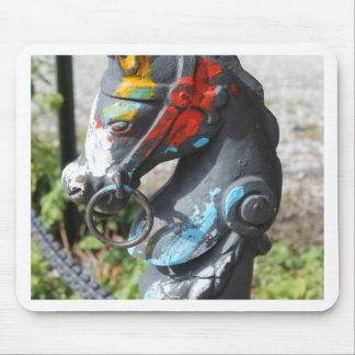 Artsy Colorful Horse Hitching Post, New Orleans Mouse Pad