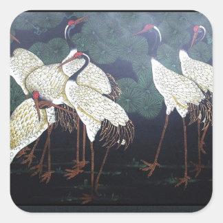 Artsy Cranes Square Sticker