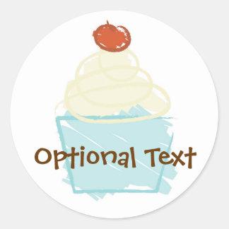 Artsy Cupcake Stickers