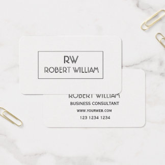 ARTSY Deco Style Mod Pixel Minimalist Professional Business Card