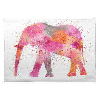 Artsy Elephant Cloth Placemat