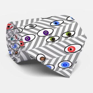 Artsy Eye Balls Optometrist Herringbone Neck Tie