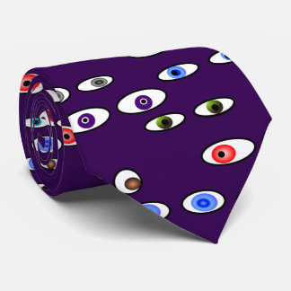 Artsy Eye Balls Optometrist Purple Neck Tie