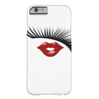 Artsy Feminine Chic Eyelashes & Lips Designer Barely There iPhone 6 Case