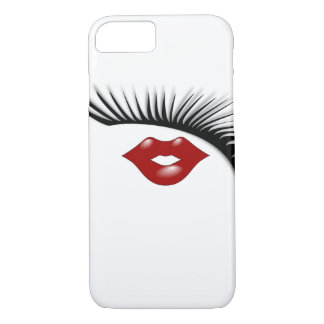Artsy Feminine Chic Eyelashes & Lips Designer iPhone 8/7 Case