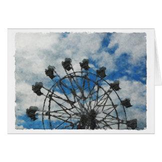 Artsy Ferris Wheel Card