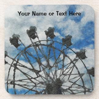 Artsy Ferris Wheel Drink Coasters