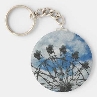 Artsy Ferris Wheel Keychain