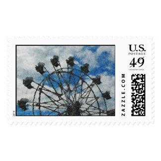 Artsy Ferris Wheel Postage Stamps