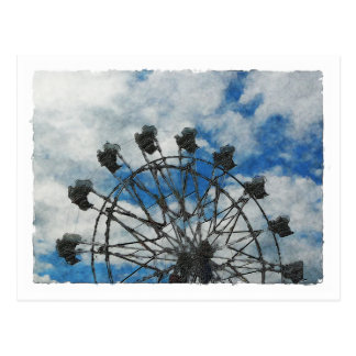 Artsy Ferris Wheel Postcard