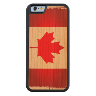Artsy Flag of Canada Carved Cherry iPhone 6 Bumper Case