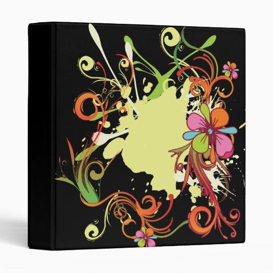 artsy floral bliss vector design 3 ring binder