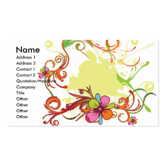 artsy floral bliss vector design business card