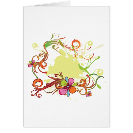 artsy floral bliss vector design card