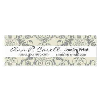 Artsy Florals Double-Sided Mini Business Cards (Pack Of 20)