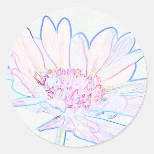 Artsy Flower Classic Round Sticker