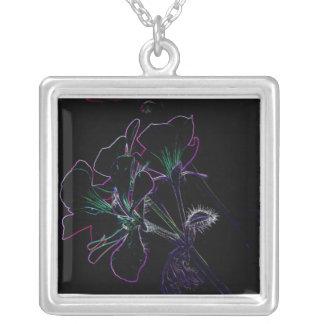 artsy flower pendant