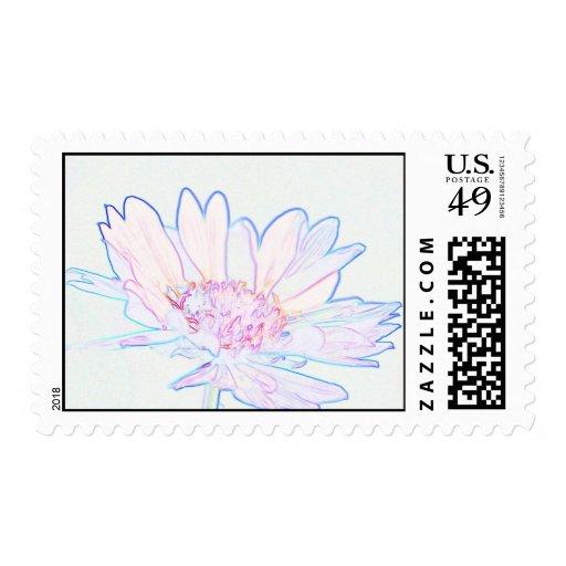 Artsy Flower Postage Stamp