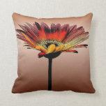 Artsy Gerbera Daisy Watercolor Pillow