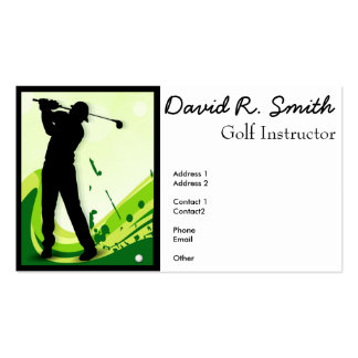 Artsy Golf Player Double-Sided Standard Business Cards (Pack Of 100)