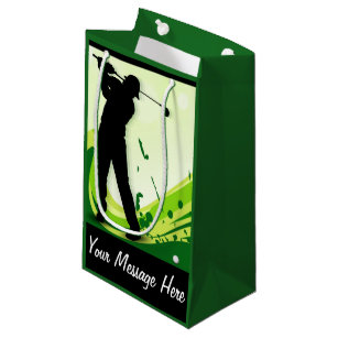 Artsy Golf Player Small Gift Bag
