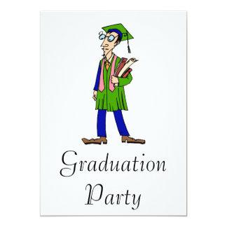 Artsy Graduate 5x7 Paper Invitation Card