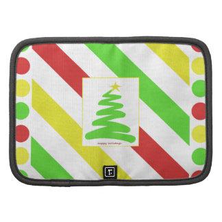 Artsy Green Christmas Tree and Polka Dots Frame Planner