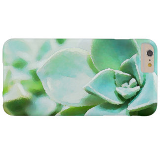 Artsy Green Succulent Flowers Custom Barely There iPhone 6 Plus Case