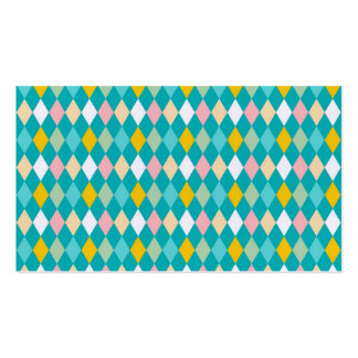 Artsy Harlequin Pattern Double-Sided Standard Business Cards (Pack Of 100)