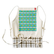 Artsy Harlequin Pattern Zazzle HEART Apron