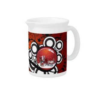 Artsy Holiday Card Beverage Pitcher