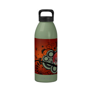 Artsy Holiday Card Reusable Water Bottle