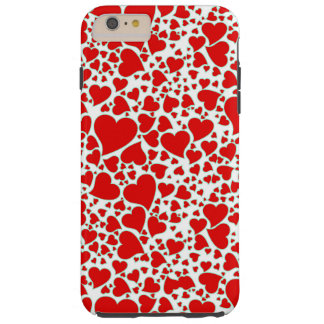 Artsy Holiday Hearts Tough iPhone 6 Plus Case