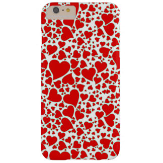 Artsy Holiday Hearts Barely There iPhone 6 Plus Case