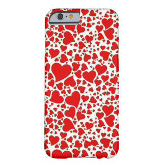Artsy Holiday Hearts Barely There iPhone 6 Case