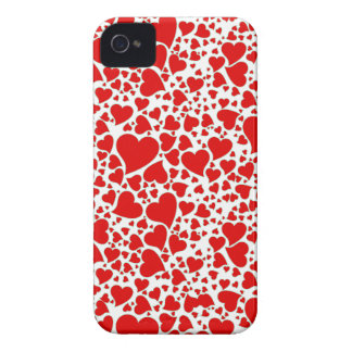 Artsy Holiday Hearts iPhone 4 Case-Mate Cases