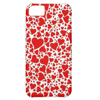 Artsy Holiday Hearts iPhone 5C Cover