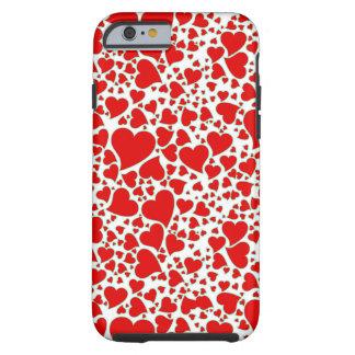 Artsy Holiday Hearts Tough iPhone 6 Case