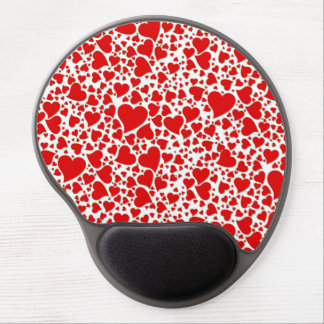 Artsy Holiday Hearts Gel Mouse Pad