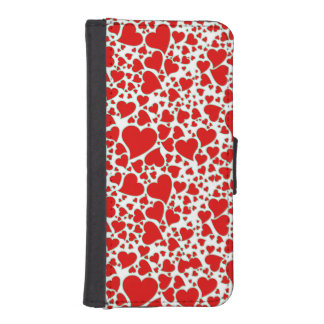 Artsy Holiday Hearts iPhone 5 Wallet Cases
