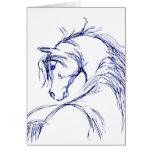 Artsy Horse Head Sketch Card