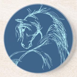 Artsy Horse Head Sketch Drink Coaster