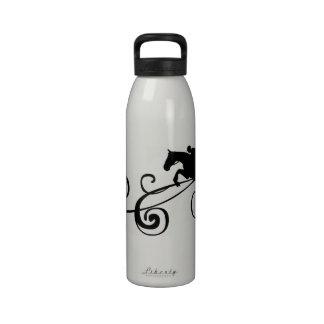 Artsy Horse Head Sketch Drinking Bottles