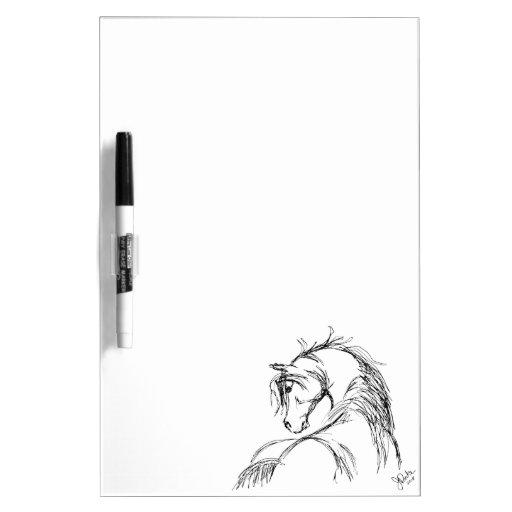 Artsy Horse Head Sketch Dry Erase Board